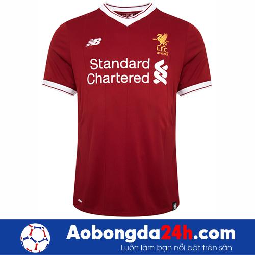 Áo bóng đá Liverpool 2017-2018 sân nhà màu đỏ
