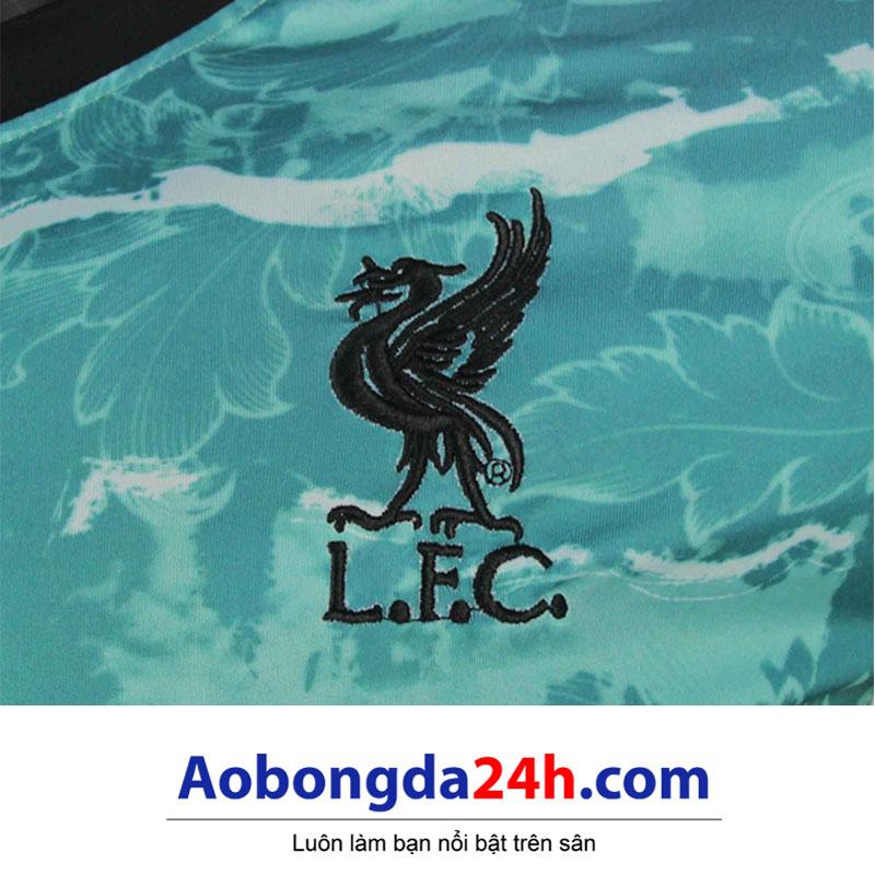 Áo đá bóng Liverpool 2020-2021 mẫu thứ 3 màu xanh ngọc