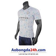 Áo Man City 2020-2021 sân nhà màu xanh da trời