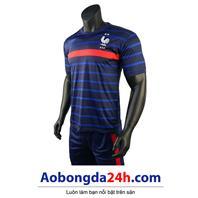 Áo bóng đá Pháp 2 sao mẫu mới 2020 - 2021 màu xanh