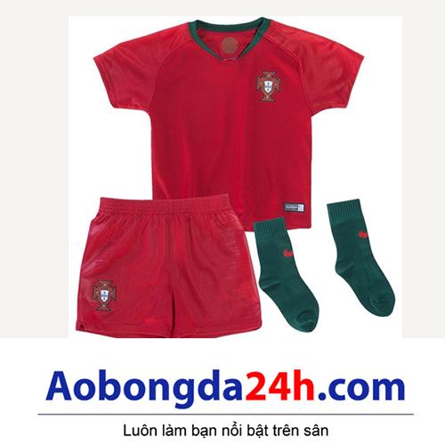 Quần áo thể thao trẻ em đội tuyển Bồ Đào Nha 2018-2019 sân nhà