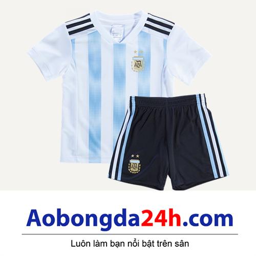 Quần áo thể thao trẻ em đội tuyển Argentina 2018-2019 sân nhà