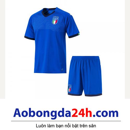 Quần áo thể thao trẻ em đội tuyển Ý 2018-2019 sân nhà