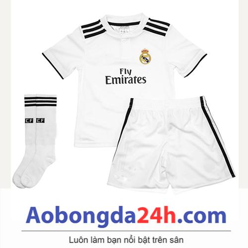 Quần áo thể thao trẻ em Real Madrid 2018 sân nhà