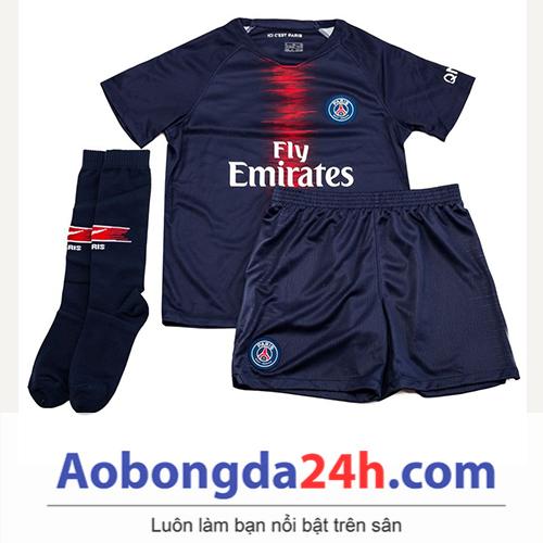 Quần áo thể thao trẻ em PSG 2018 sân nhà