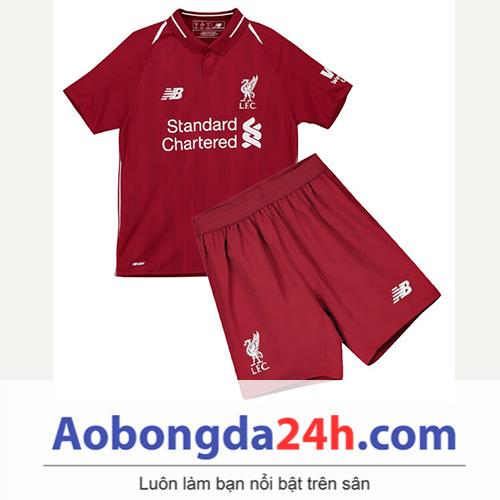 Quần áo thể thao trẻ em Liverpool 2018 sân nhà