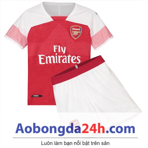 Quần áo thể thao trẻ em Arsenal 2018 sân nhà