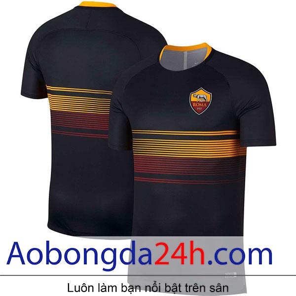 Áo Training As Roma 2017-2018 màu đen